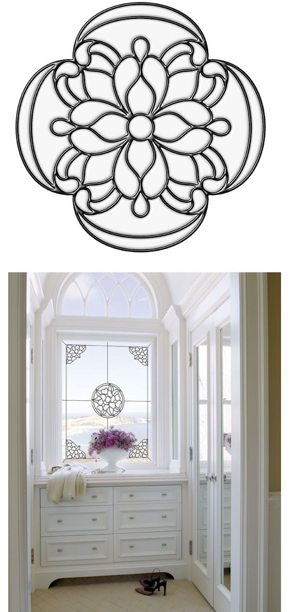 Victorian Medallion Clear Stained Glass Sticker Wall Sticker Outlet Future Home Stuff In 2019 Stained Glass Window Film Stained Glass