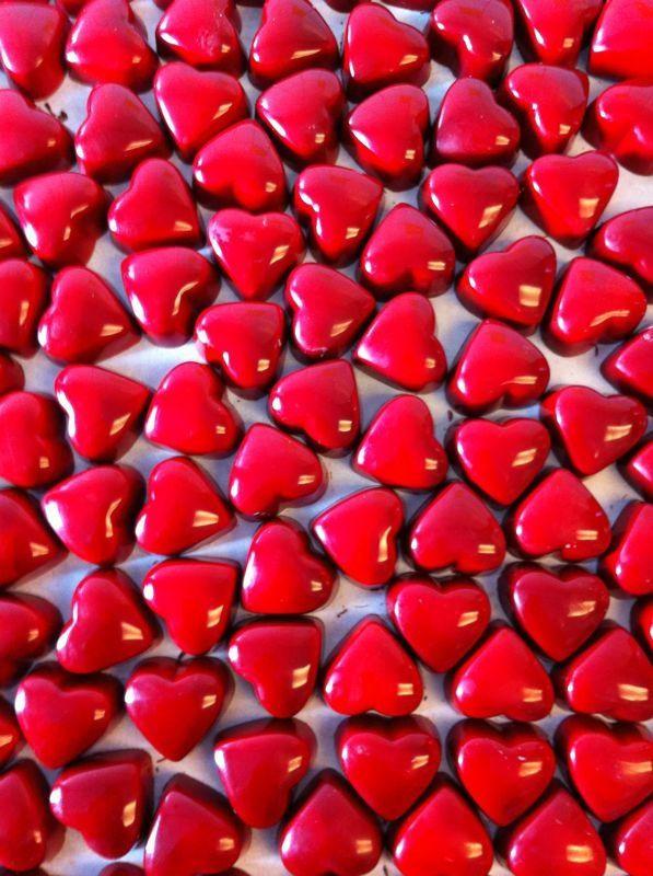 Heart cinnamon candies! A classic!