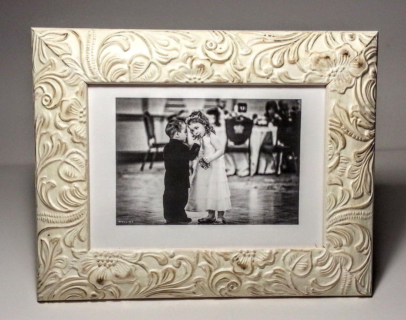 Ornate Antique White Picture Frame, Photo Frames, Wedding Frames ...