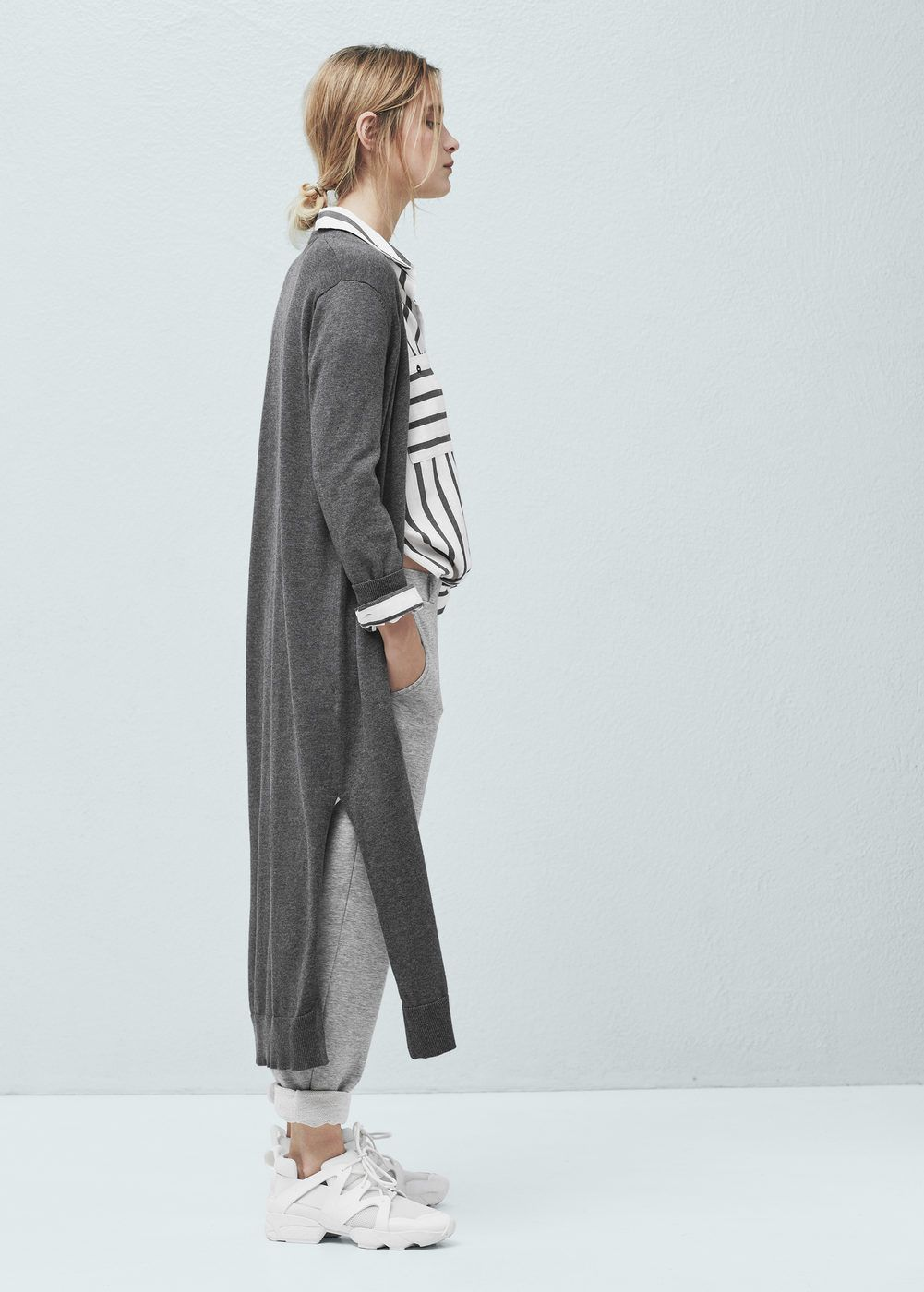 Long cotton cardigan - Woman | Vests, Cardigans and Cotton cardigan