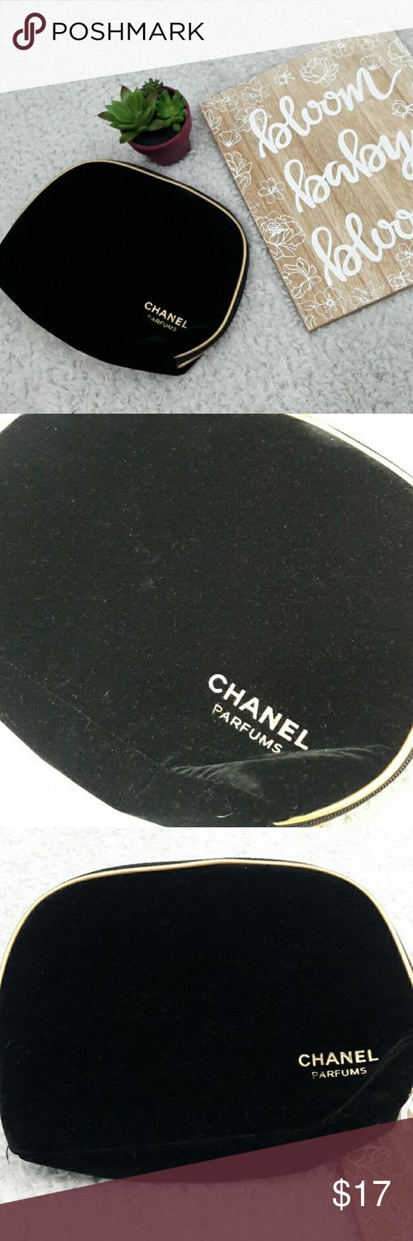 Limited edition Velvet CHANEL makeup bag Chanel makeup