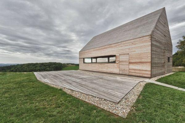 Tolle Dächer u2013 Giebeldach als Akzent in modernen Häusern - idee fur haus renovieren grune akzente modernen raum