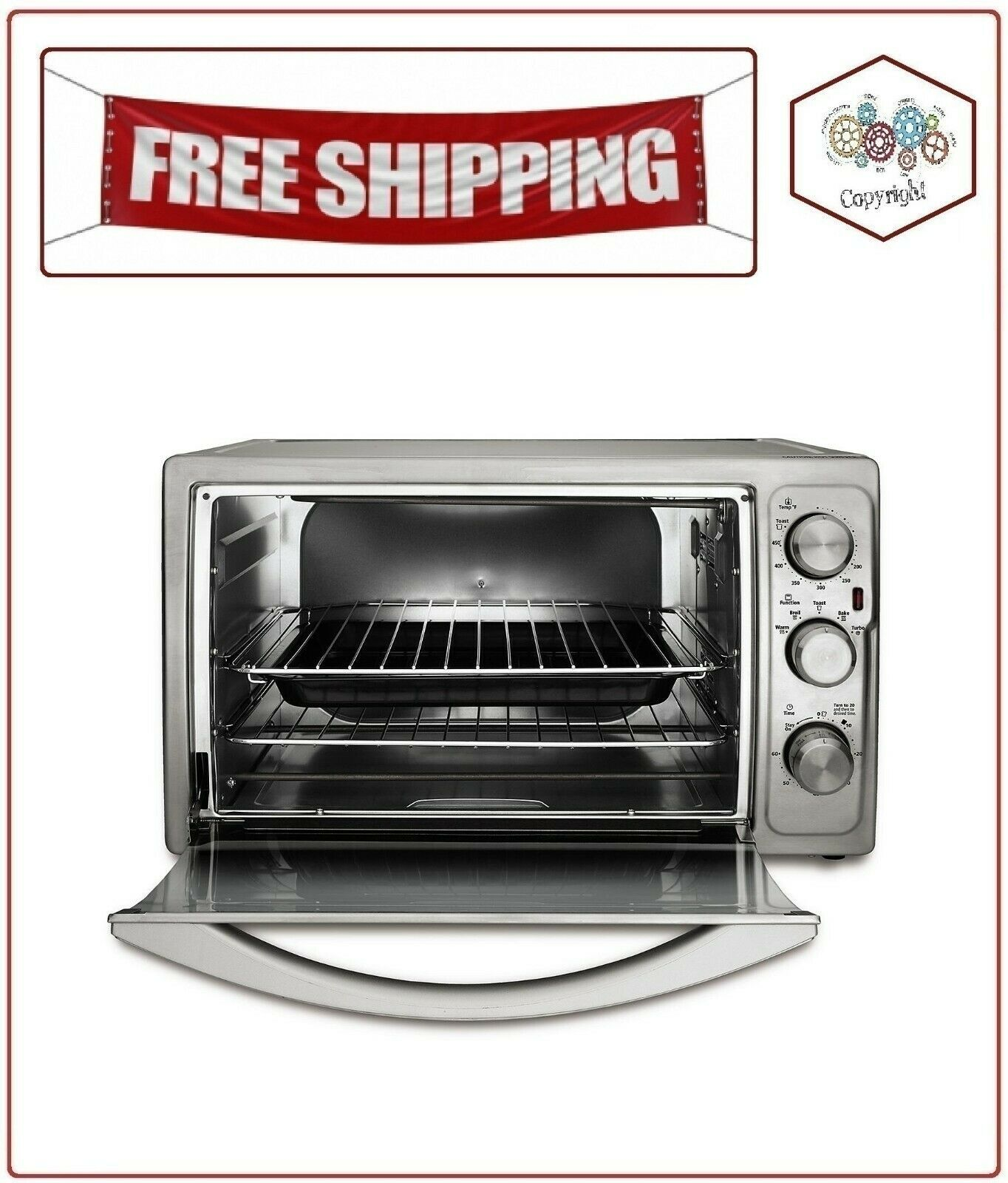 Oster Countertop Oven Extra Large Xl Stainless Steel Convection Toaster Oven Ovens Ideas Of Ovens Ov