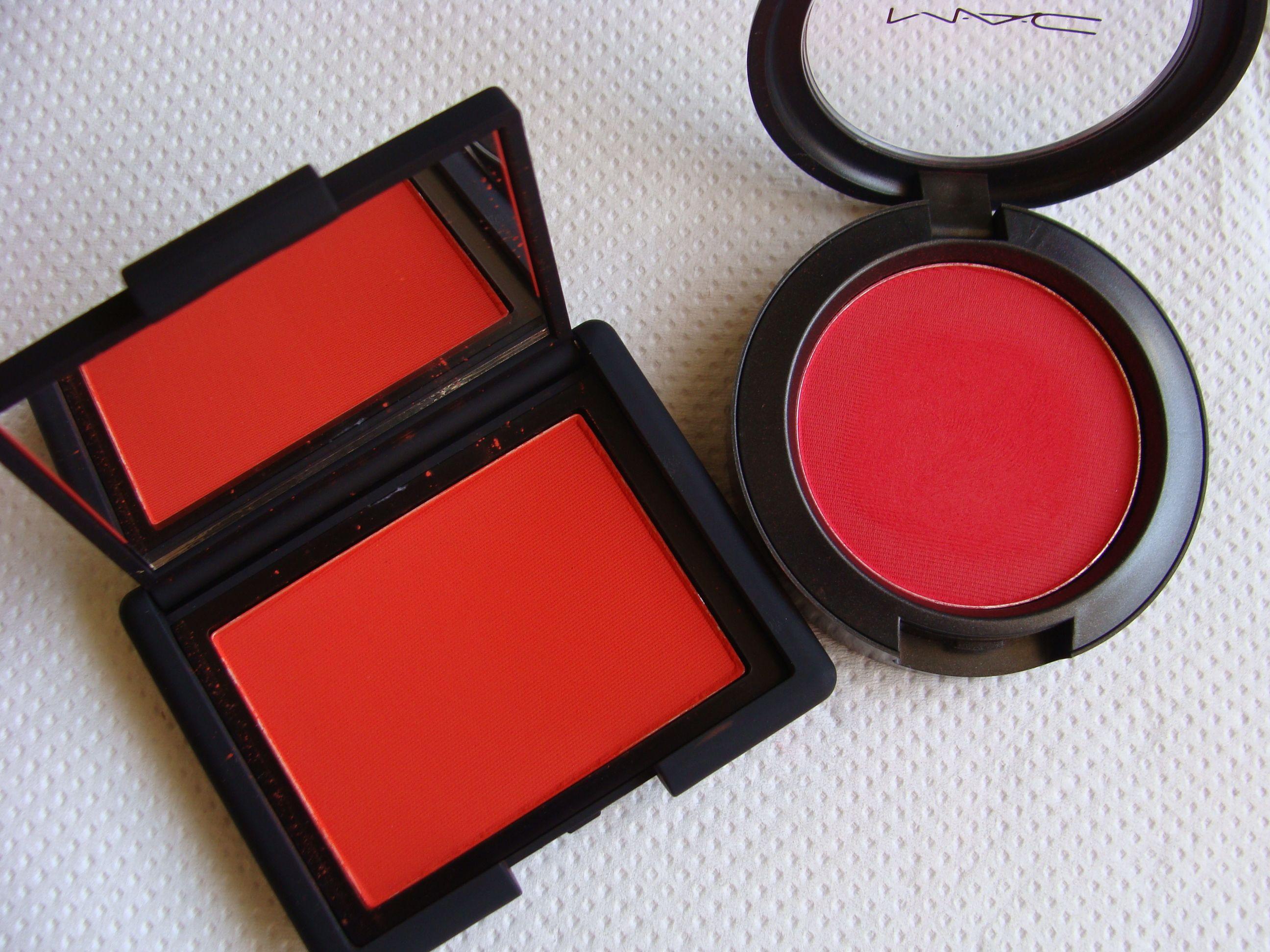 Nars Blush In Exhibit A Vs Mac Frankly Scarlet  Blush -8695