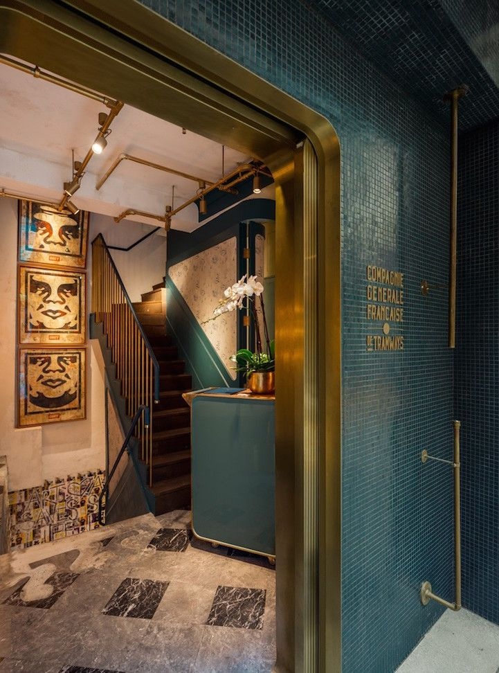 Every Wall In This Restaurant Is Specially Made Art By Famous Street Artists Entrance Design Fine Dining Restaurant Bar Design Restaurant