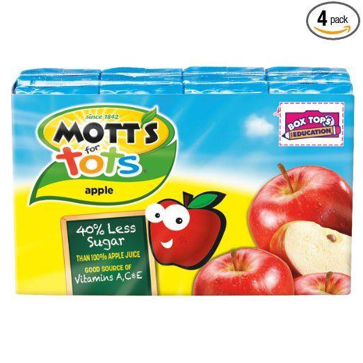Mott's+for+Tots+Apple,+6.75+fl+oz+boxes+(Pack+of+32)+Only+$9.50