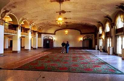 The Lobby Of Baker Hotel In Mineral Wells Texas You Can Still See Signs How Beautiful It Was