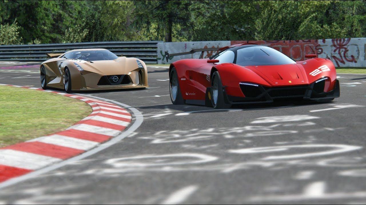 Ferrari Xezri Concept Vs Nissan Concept 2020 Vision Gt At Nordschleife Nissan Ferrari Racing Simulator