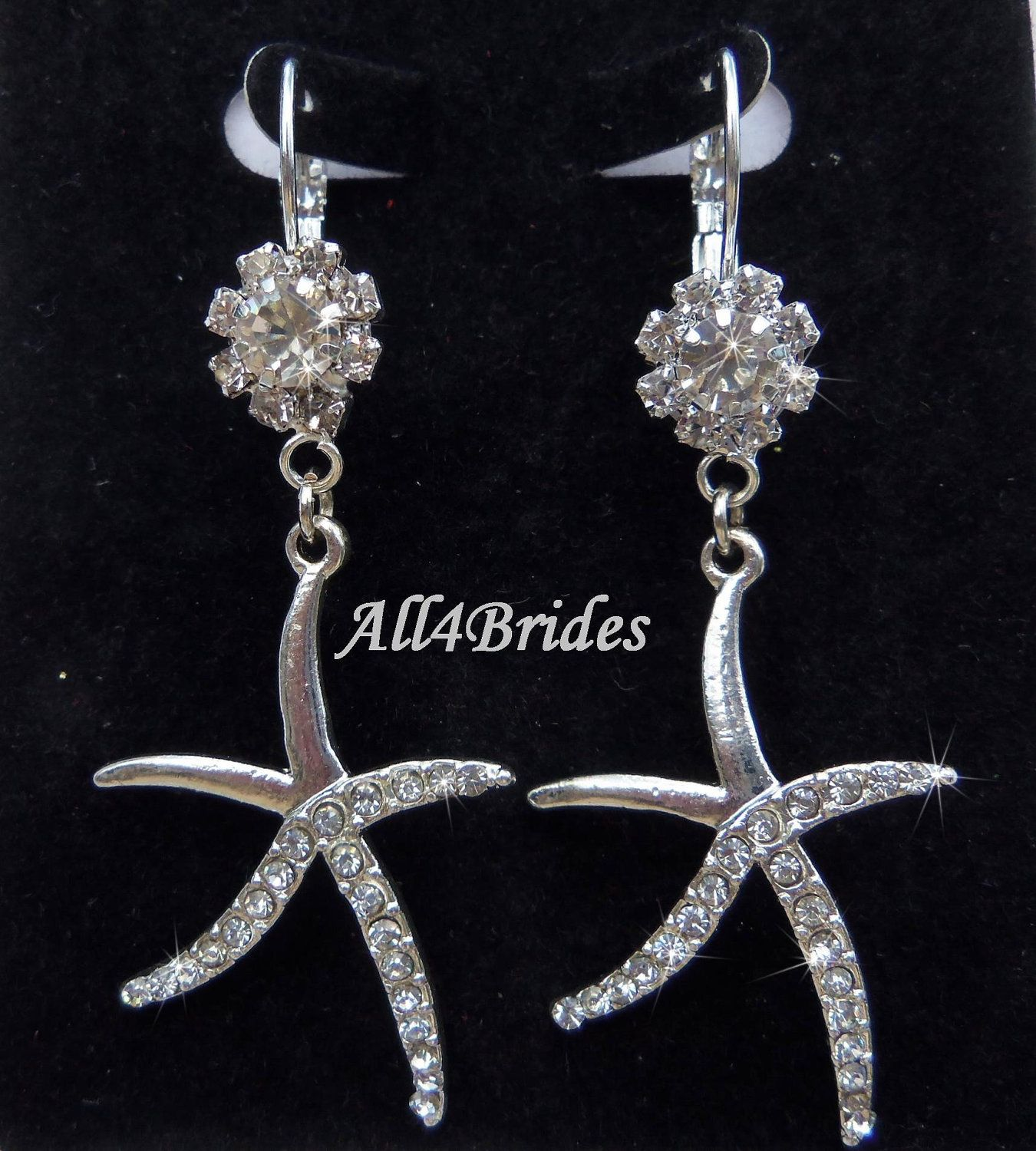 Starfish Earrings Bridal Beach Wedding Jewelry Weddings Dangle 30 00 Via Etsy
