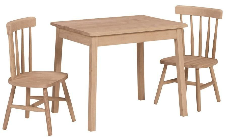 Juvenile Hardwood Rectangular Table, Unfinished Furniture Manchester Ct
