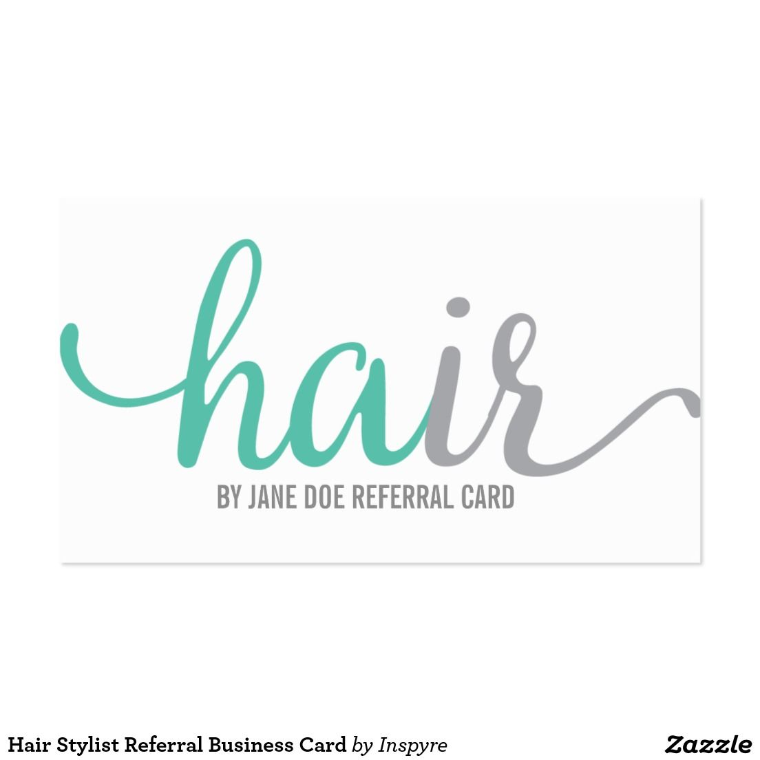 Hair Stylist Referral Business Card | Customer Loyalty Business ...