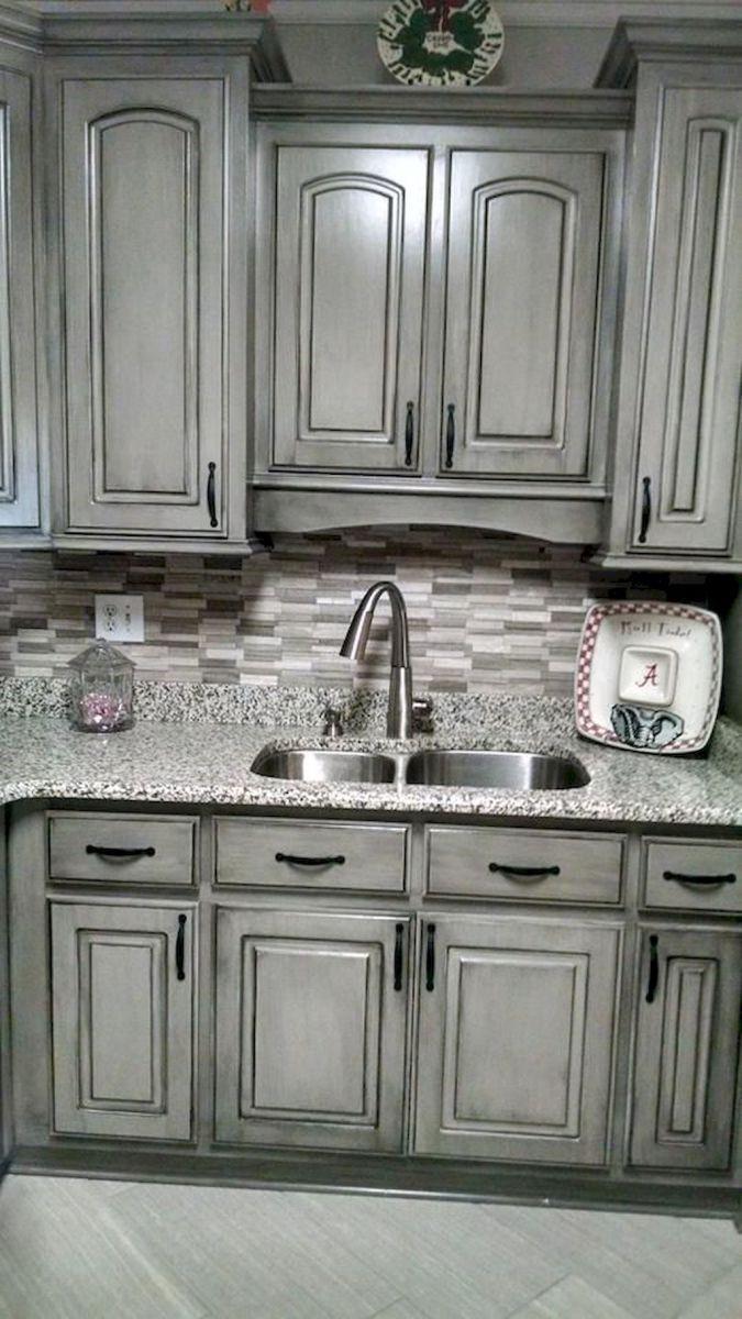 Gray Kitchen Cabinet Makeover Ideas 41 Glazed Kitchen Cabinets Kitchen Cabinets Makeover Kitchen Cabinets