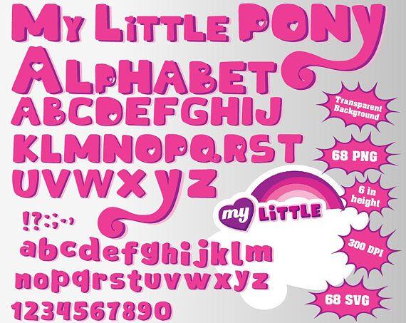 my little pony full alphabet numbers and symbols 136 alphabet
