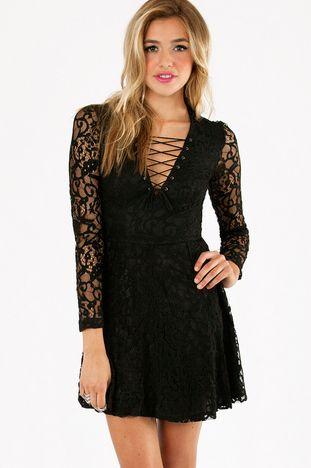 Lace It Up Dress $44 at www.tobi.com
