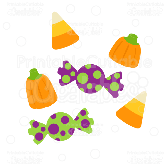 Halloween Candy SVG Cut Files & Clipart - also includes SVG ...