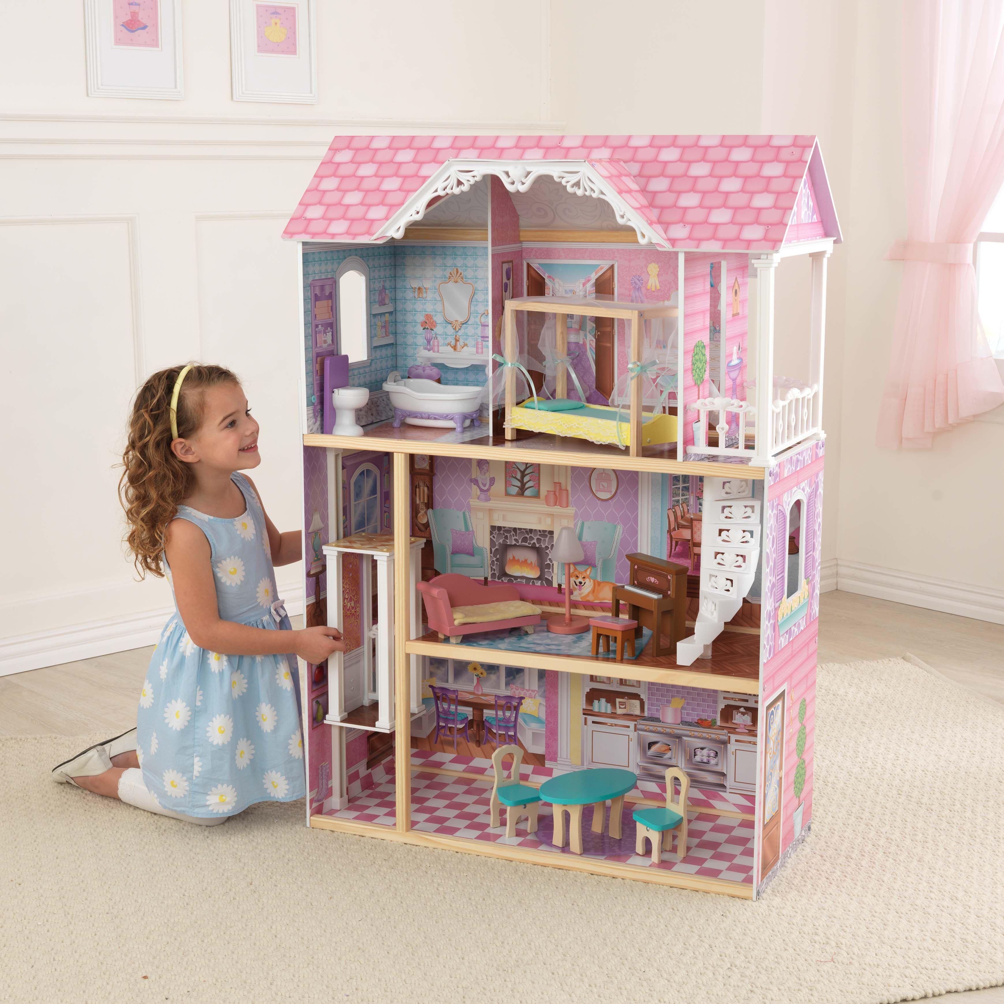 Charming Chateau Dollhouse Kidkraft Doll House Kids Furniture Wooden Dollhouse
