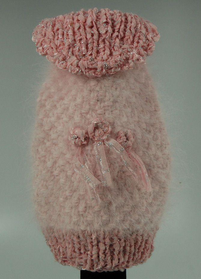Jack Rocketwear Couture Pink Knit Angora Sweater Dog Pet Size 8 Stocking Stuffer - Mirranme