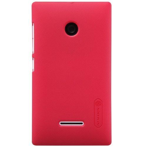 Nillkin - Microsoft Lumia 435 Hoesje - Back Case Frosted Shield Rood | Shop4Hoesjes
