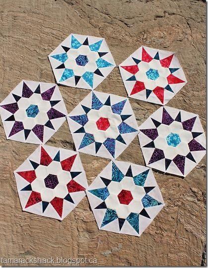 Grandma S Star Blocks Hexagon Quilt Paper Piecing Quilts English Paper Piecing