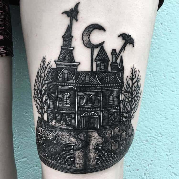 30 Blackwork Dark Tattoos by Merry Morgan | TattooAdore