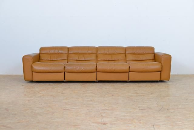Vintage FourSeater Leather Sofa with Relax Function from