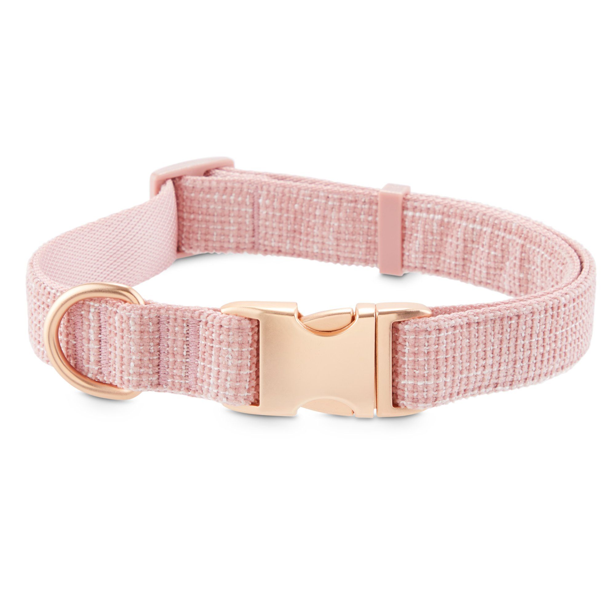 Modern Luxe Collection Pink Tweed Dog Collar Large X Large Cute