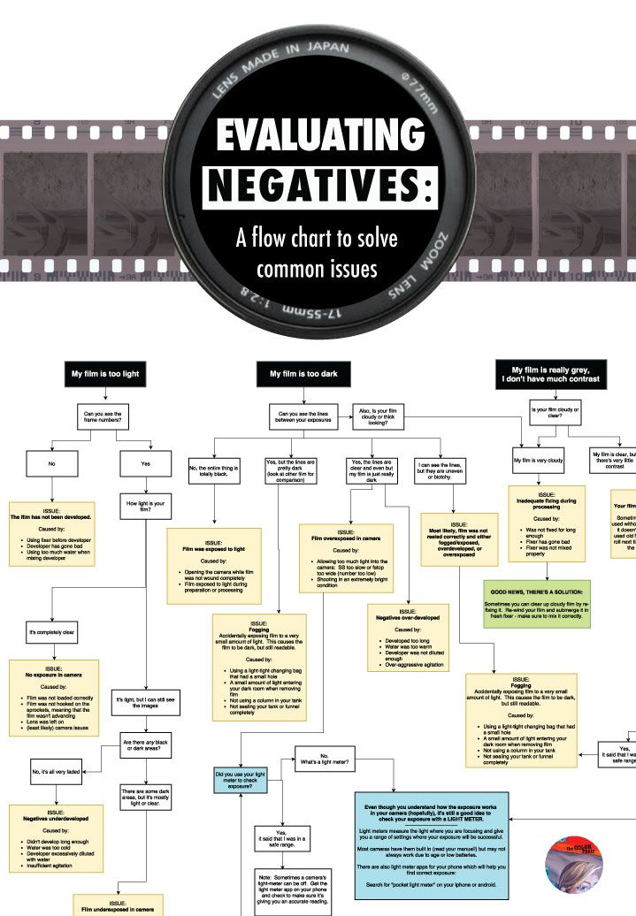 Evaluating Film Negatives A Comprehensive Flow Chart for Darkroom - flow chart printable