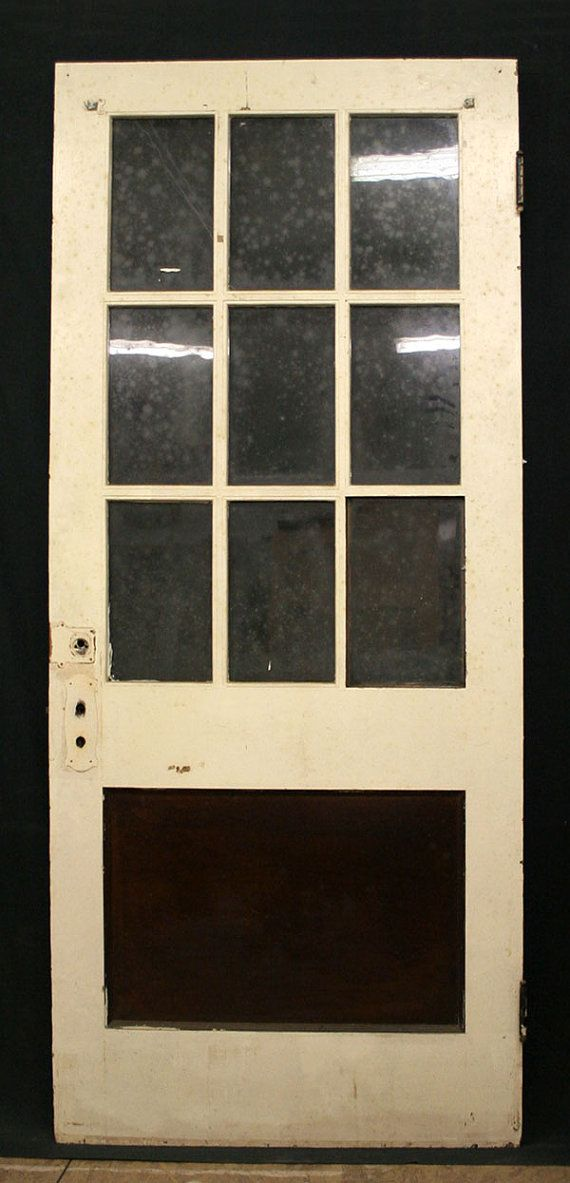 Charming 36x84 Antique Exterior Entry Birch Wood Door By PennAntiqueRestore