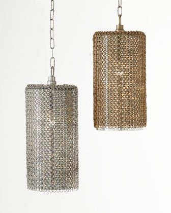 horchow lighting. Wonderful Horchow Lancelot ChainMesh Pendant Light By ReginaAndrew Design At Horchow Two  In Brass For Over The Dining Table Iu0027ll Post A Photo As Soon They Are Hung With Horchow Lighting