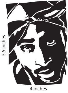 Pin By Krystal Watkins On Music Svgs Silhouette Art Tupac Art Art