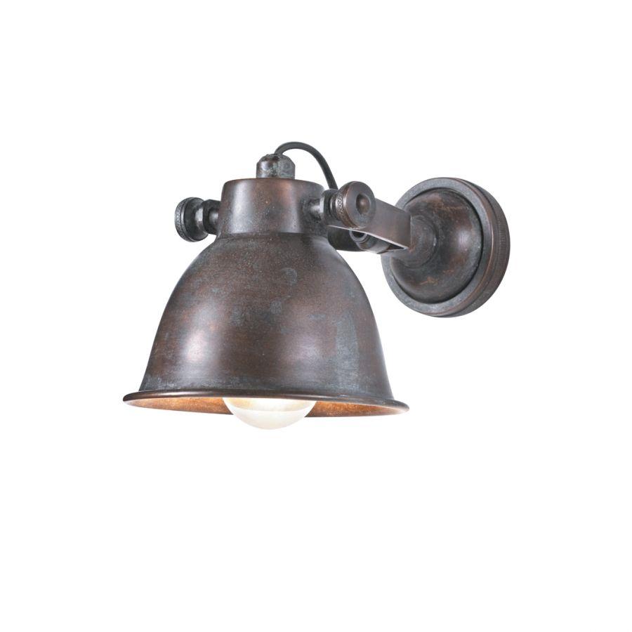 Lampen Online Wandlampe Im Fabrik Design Antik Messing: White.owl2013@yandex.ru