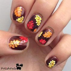 autumn fall inspired nail art designs trends ideas for girls 2013