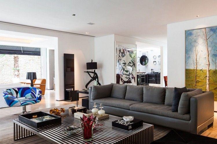 schöne Wandbilder als stimmungsvolle Wanddeko für Wohnzimmer - wohnideen fürs wohnzimmer