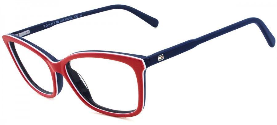 0ef247408 Tommy Hilfiger TH1318 - Vermelho/Branco/Azul - VOY/54 | Eyewear | Moda