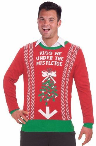 inappropriate funny mens ugly christmas sweater under the mistletoe httpwww - Inappropriate Christmas Sweaters