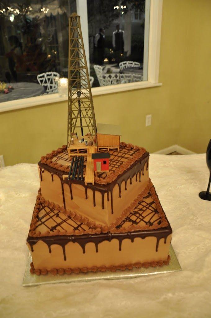 Oil Derrick Groom S Cake Wedding Stuff 70th Birthday