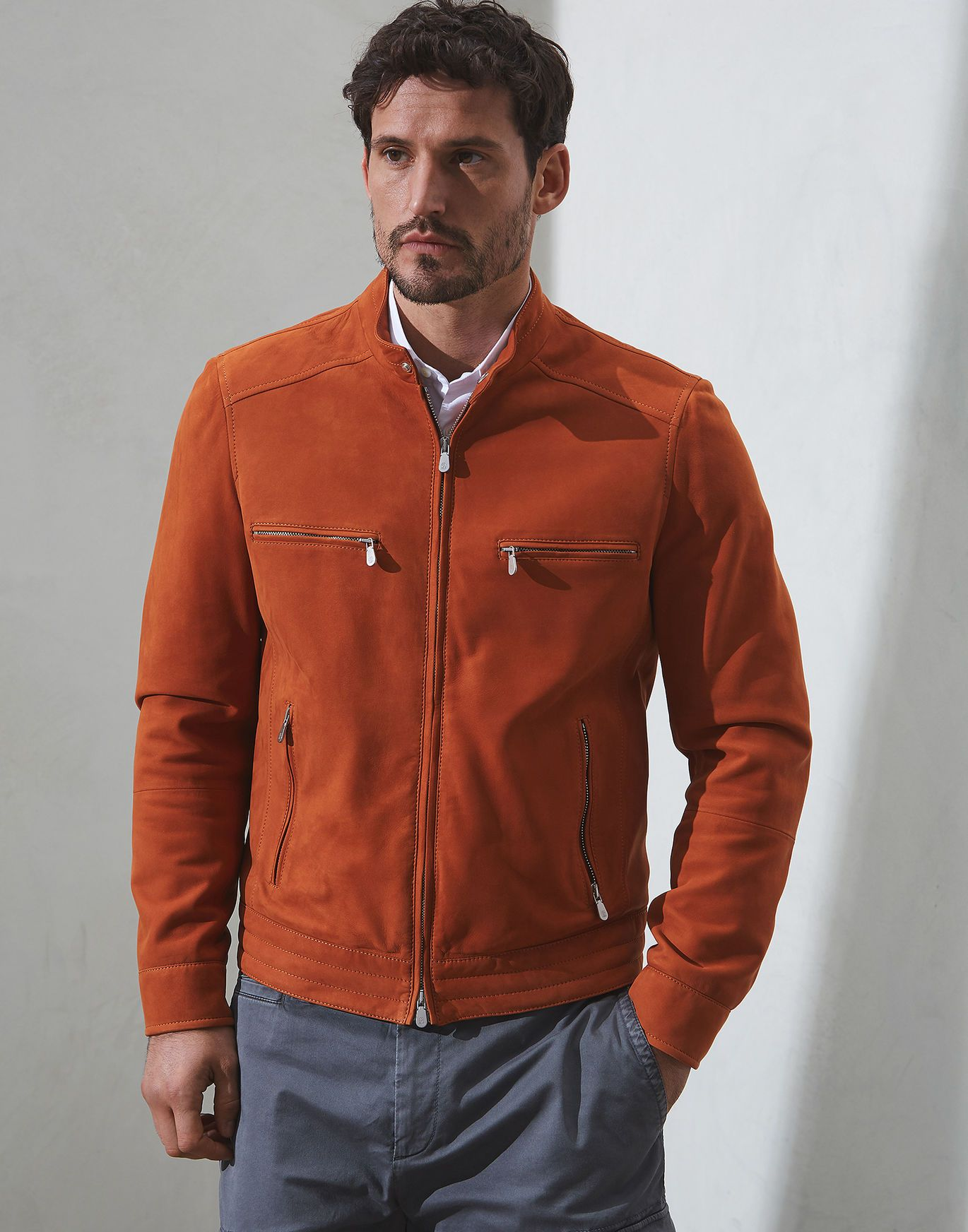 Brunello Cucinelli Red Leather Jacket Leather Jacket Jackets [ 1744 x 1370 Pixel ]