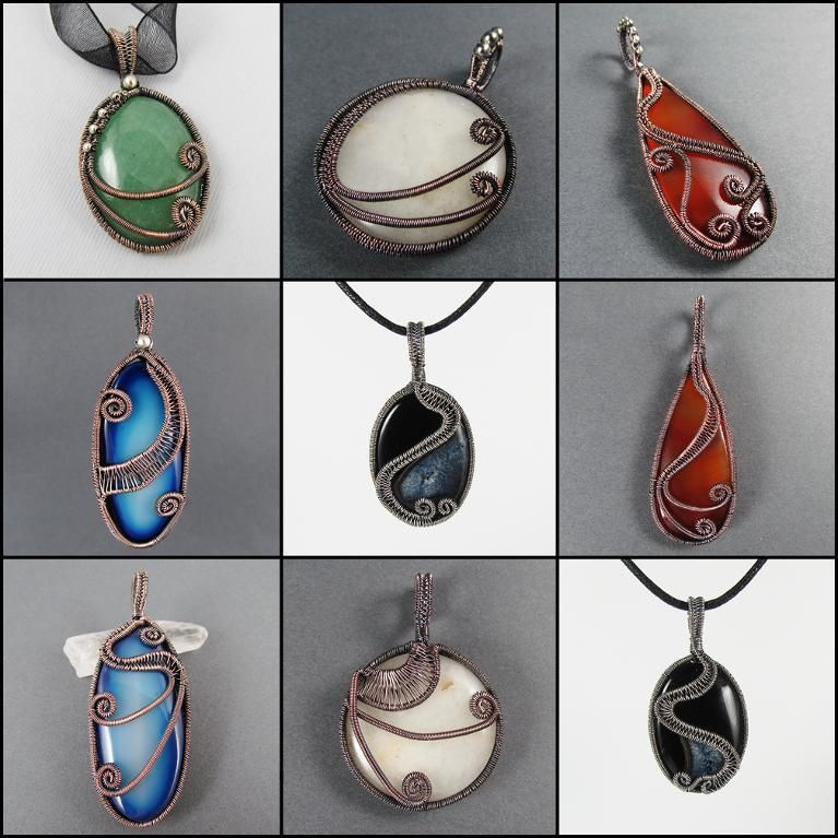 Check out Donna's tutorial:  Fire Dance: Wire Wrapped Pendant TUTORIAL