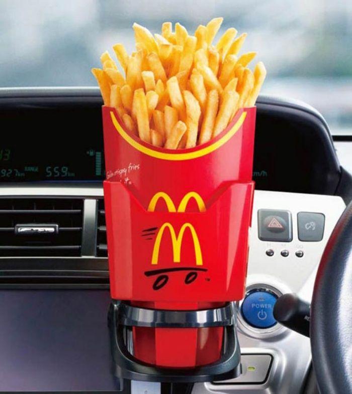 Porta patatine da auto