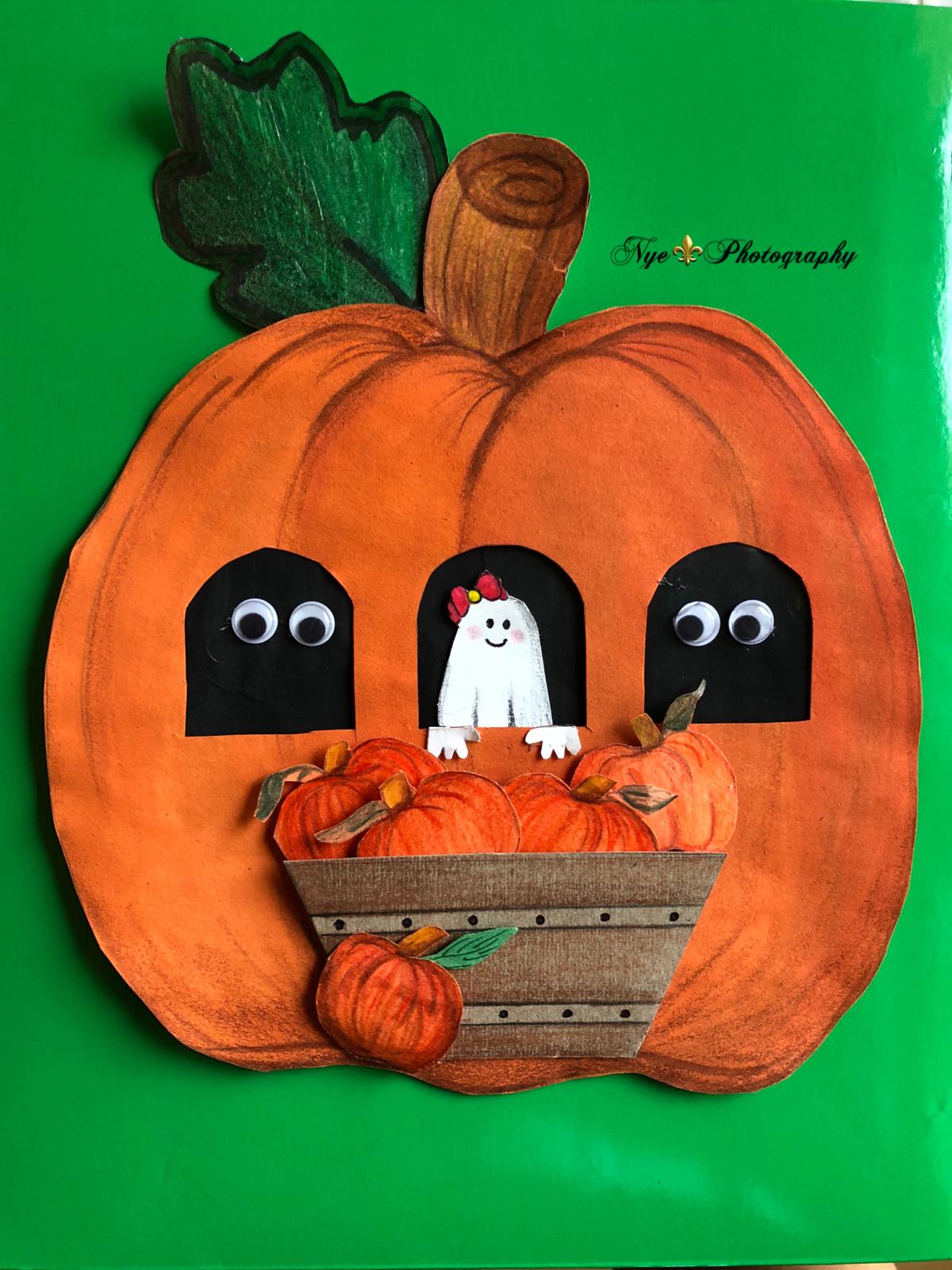 DIY pumpkin decoration. Paper pumpkin decoration. Pumpkin