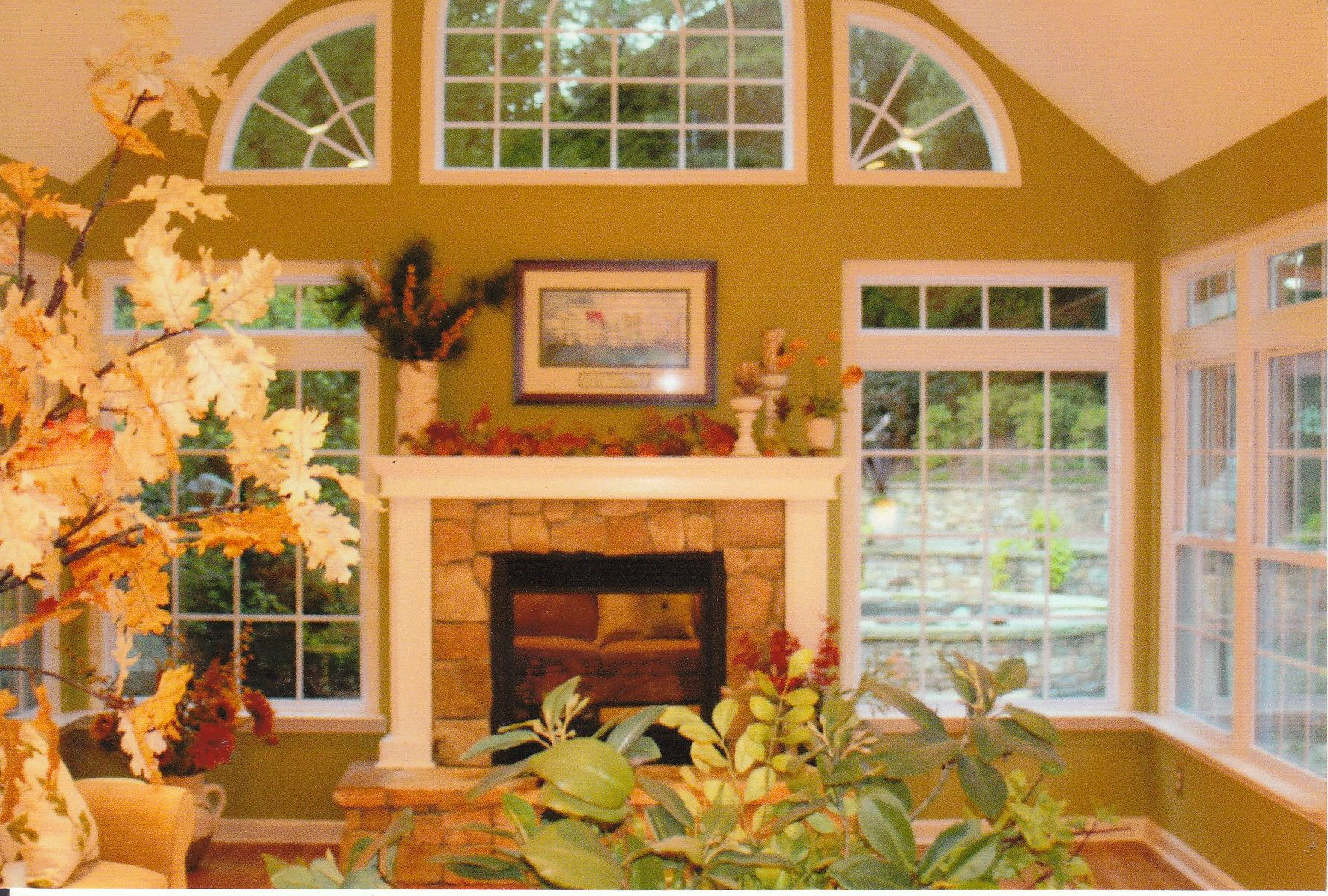 Sunroom With Fireplace Designs Four Season Sunroom With Fireplace Georgia Sunroom Pinterest