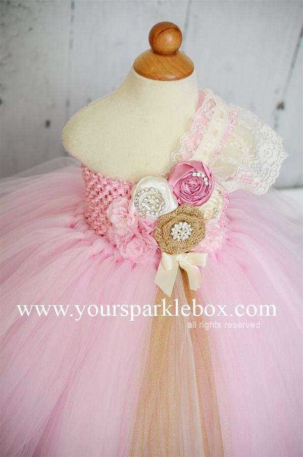 Pink vintage tutu dress by YourSparkleBox | one day :) | Pinterest ...
