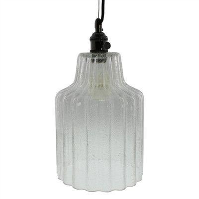 Stina Glass Pendant Light - Lrg - Clear