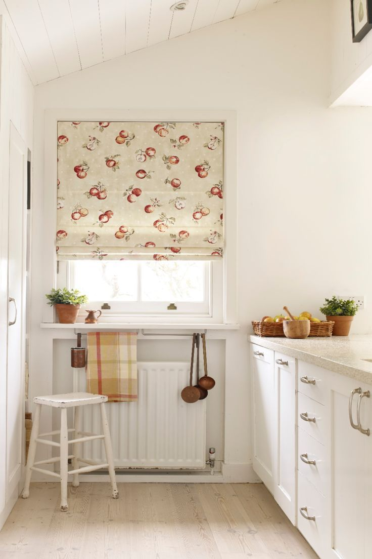 Create a country kitchen style with rustic patterns mixed with white ...