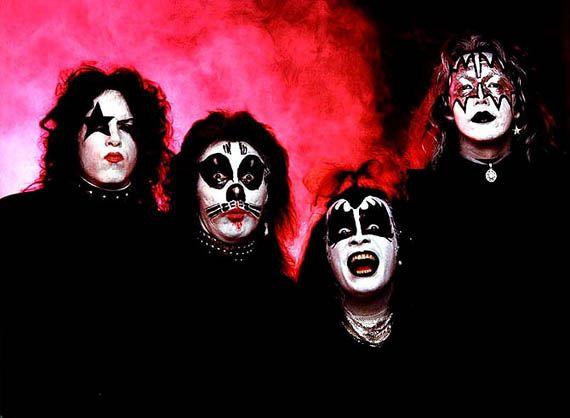 KISS FAREWELL TOUR VINTAGE 2000 GENE PAUL ACE PETER VINYL BUMPER STICKER-NEW!!
