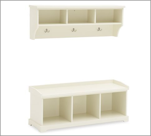 Samantha Entryway Collection Pottery Barn Entryway Furniture Entryway Storage Shelves