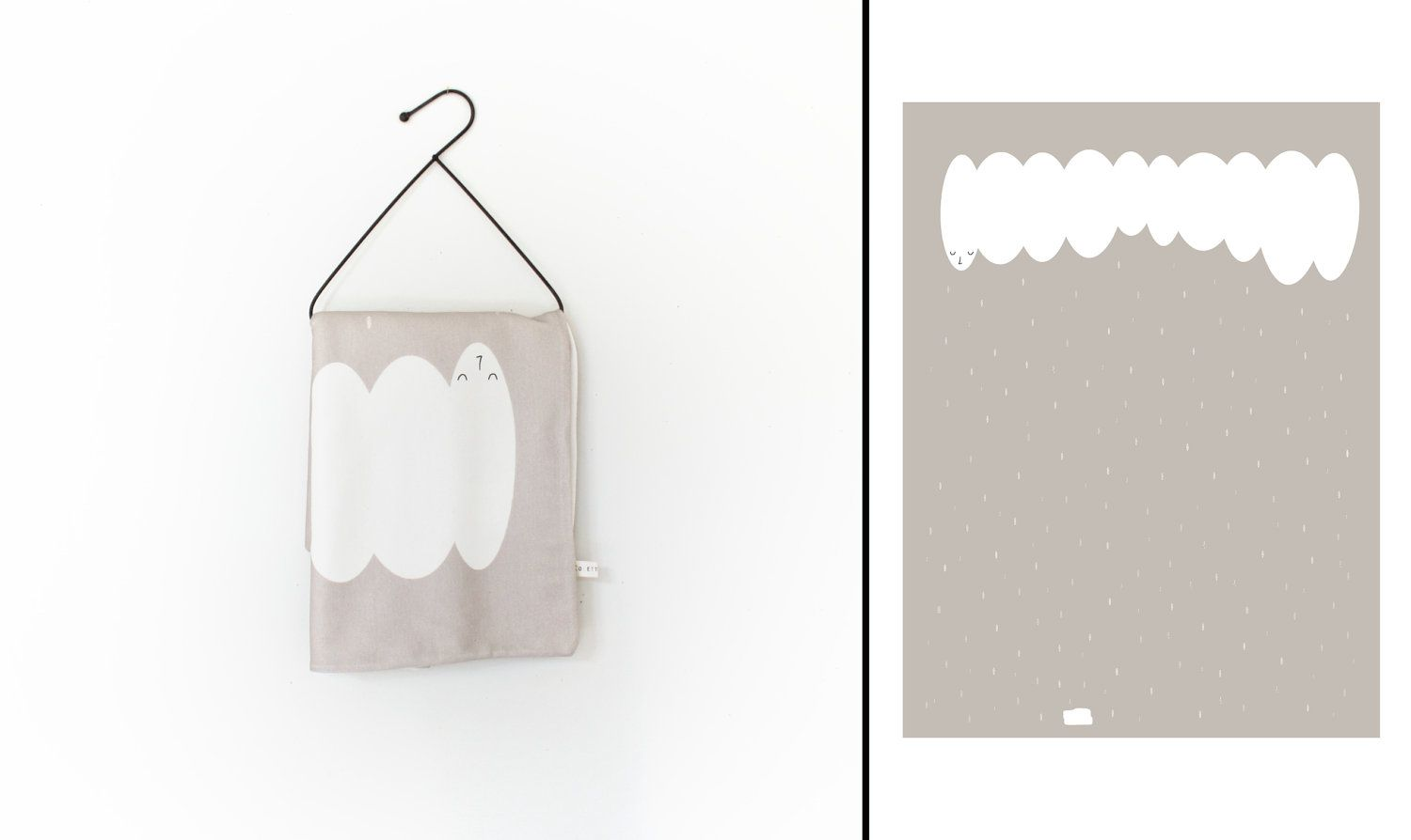 ORGANIC Blanket - 'Will there be puddles' blanket by Colette Bream