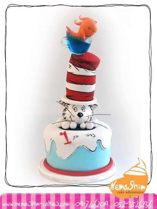 Dr Seuss Cake By Galit Dr Seuss Cakes Pinterest Cake