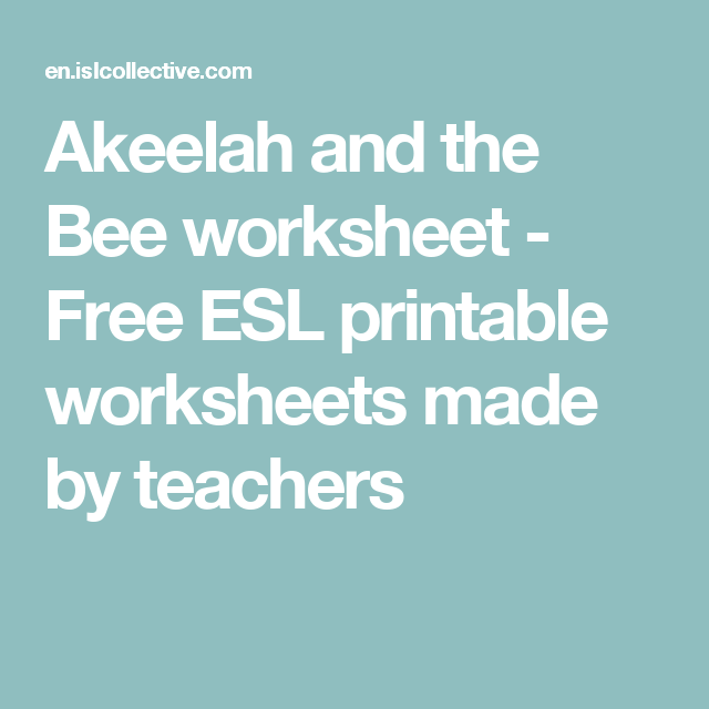 akeelah and the bee analysis essay Akeelah and the bee, though, is a very clever, well crafted, beautiful movie it's young but talented cast are admirable, and will have you cheering them on all the way jason lalljee.