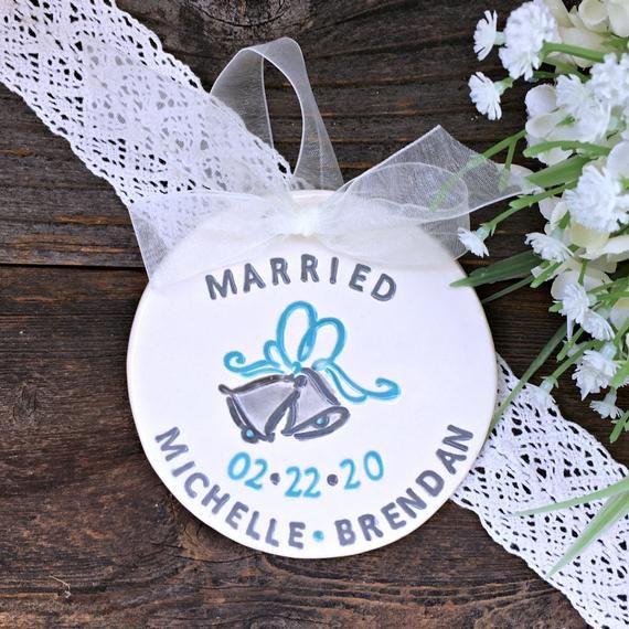 Photo of Wedding Ornament Personalized – Wedding Bells Personalized Cerami